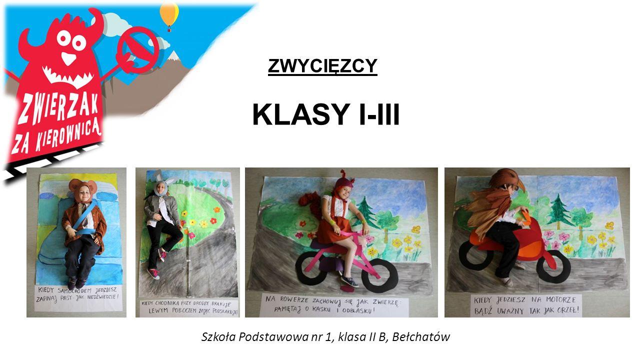 ZWYCIĘZCY KLASY I-III Szkoła Podstawowa nr 1, klasa II B, Bełchatów