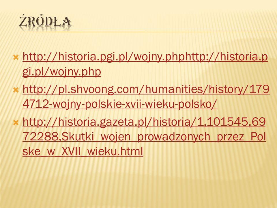http://historia.pgi.pl/wojny.phphttp://historia.p gi.pl/wojny.php http://historia.pgi.pl/wojny.phphttp://historia.p gi.pl/wojny.php http://pl.shvoong.
