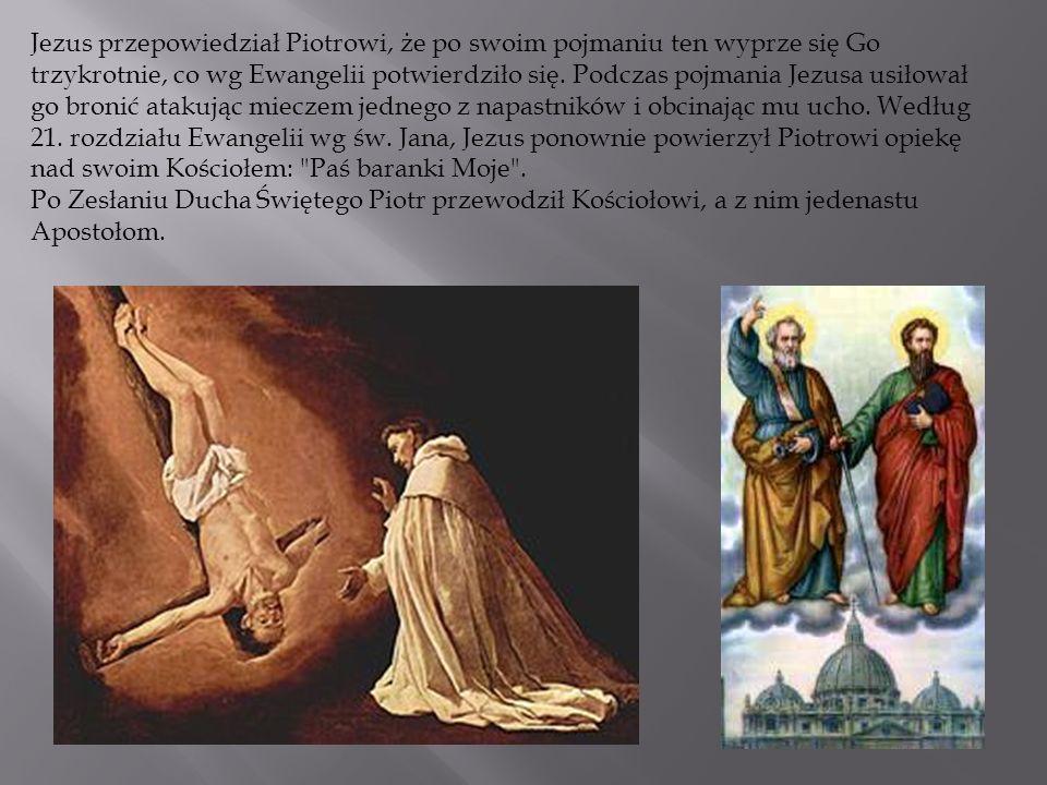 Jezus przepowiedział Piotrowi, że po swoim pojmaniu ten wyprze się Go trzykrotnie, co wg Ewangelii potwierdziło się. Podczas pojmania Jezusa usiłował