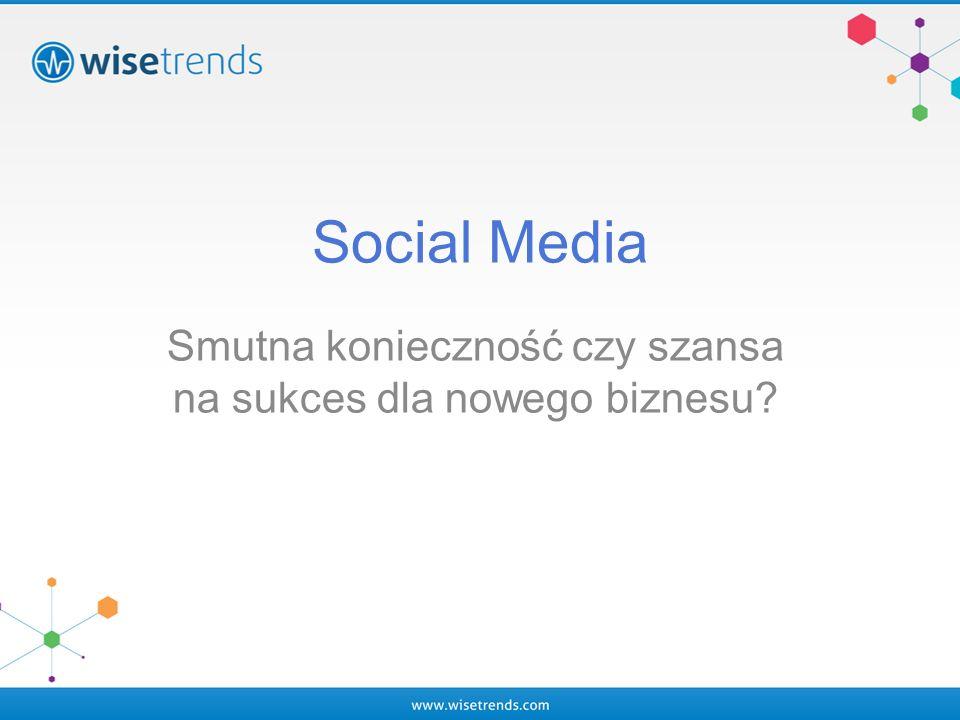 Social Media Smutna konieczność czy szansa na sukces dla nowego biznesu