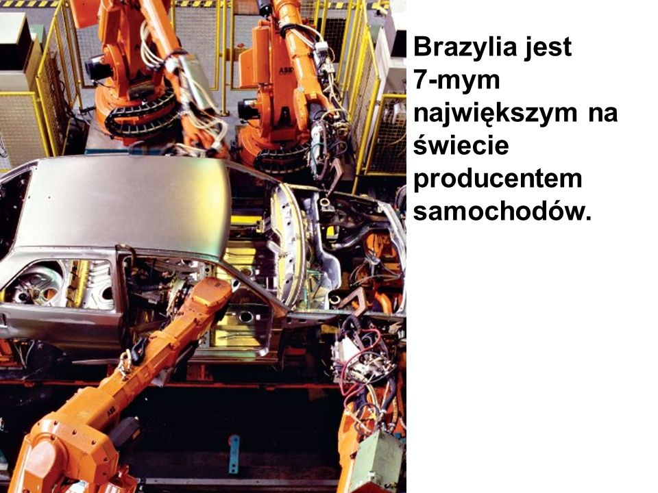 Brazylia jest 7-mym największym na świecie producentem samochodów.