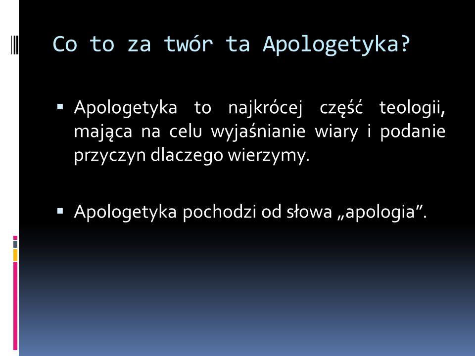 Jak tłumaczymy słowo Apologia.Apologia pochodzi z 1.