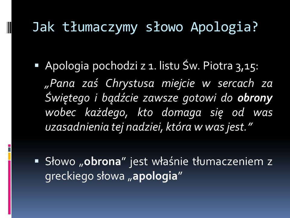 Bądźmy Apologetami.