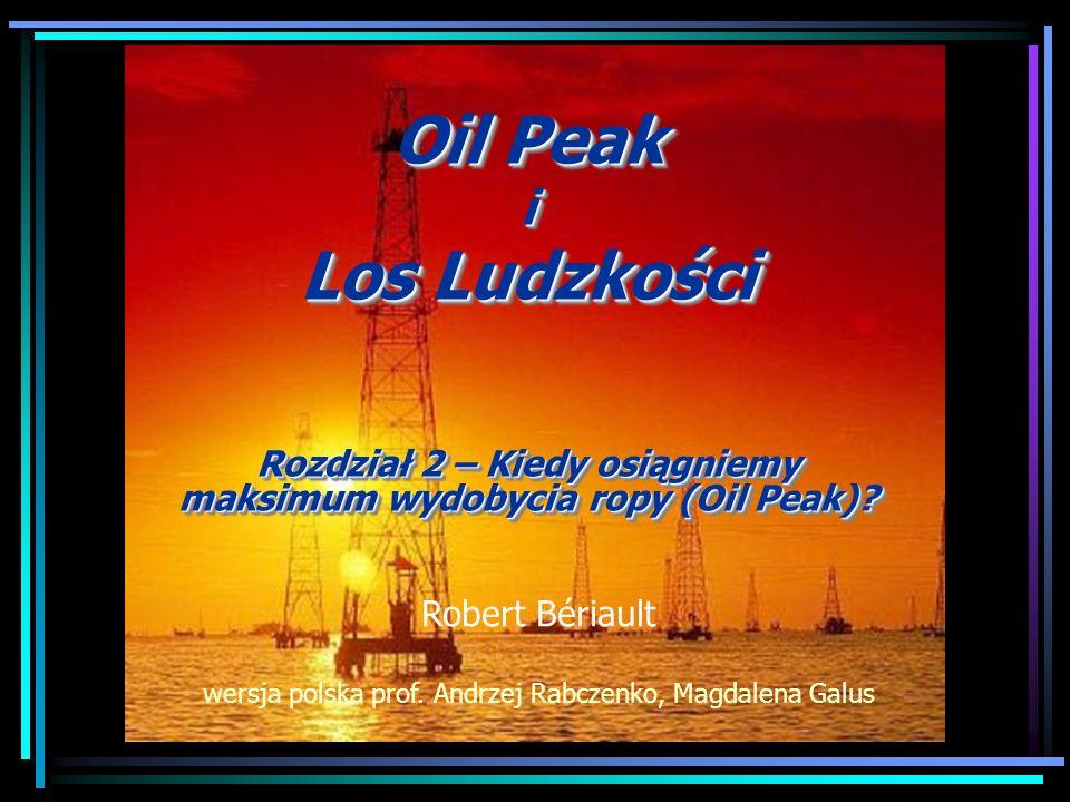 EROEI = Energy Return On Energy Invested Przed rokiem 1950 wynosił około 100 do 1 W latach 70-tych spadł do 30 do 1 W roku 2005 było to już zaledwie 10 do 1 EROEI piasków roponośnych wynosi 4 do 1 The Partys Over, Richard Heinberg Im trudniej dostępną ropę wydobywamy, tym niższy jest wskaźnik EROEI:
