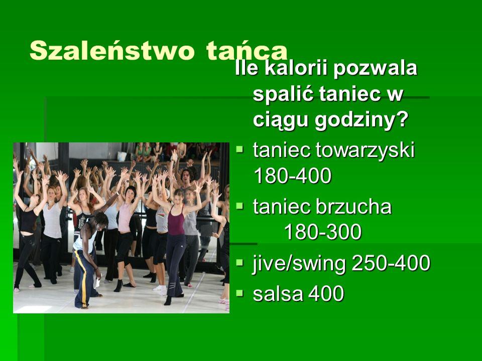 Szaleństwo tańca Ile kalorii pozwala spalić taniec w ciągu godziny.