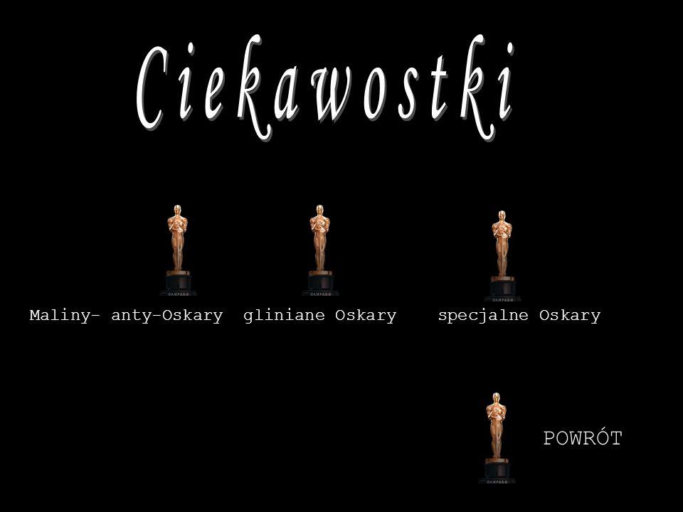 Maliny- anty-Oskary gliniane Oskary specjalne Oskary POWRÓT