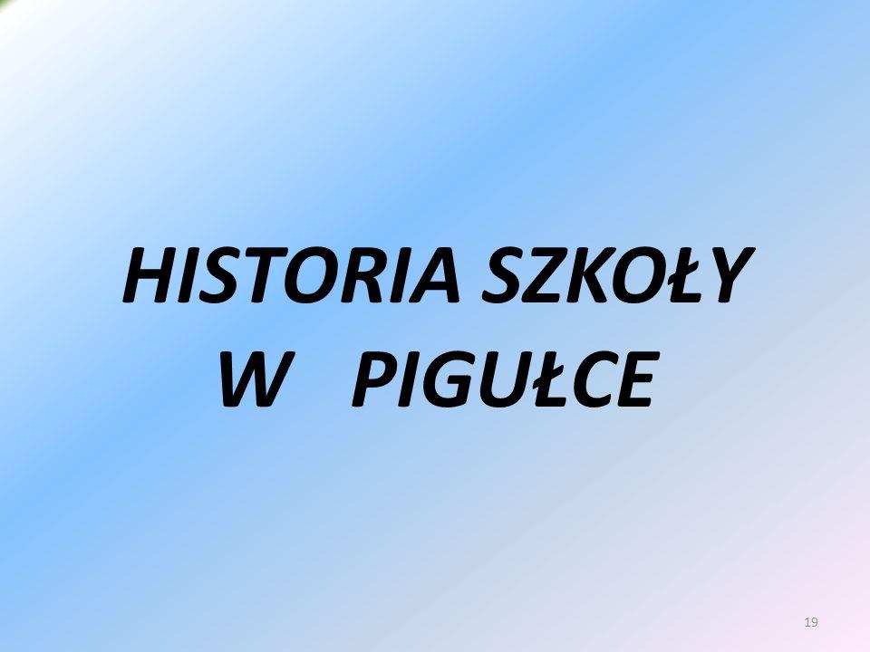 19 HISTORIA SZKOŁY W PIGUŁCE