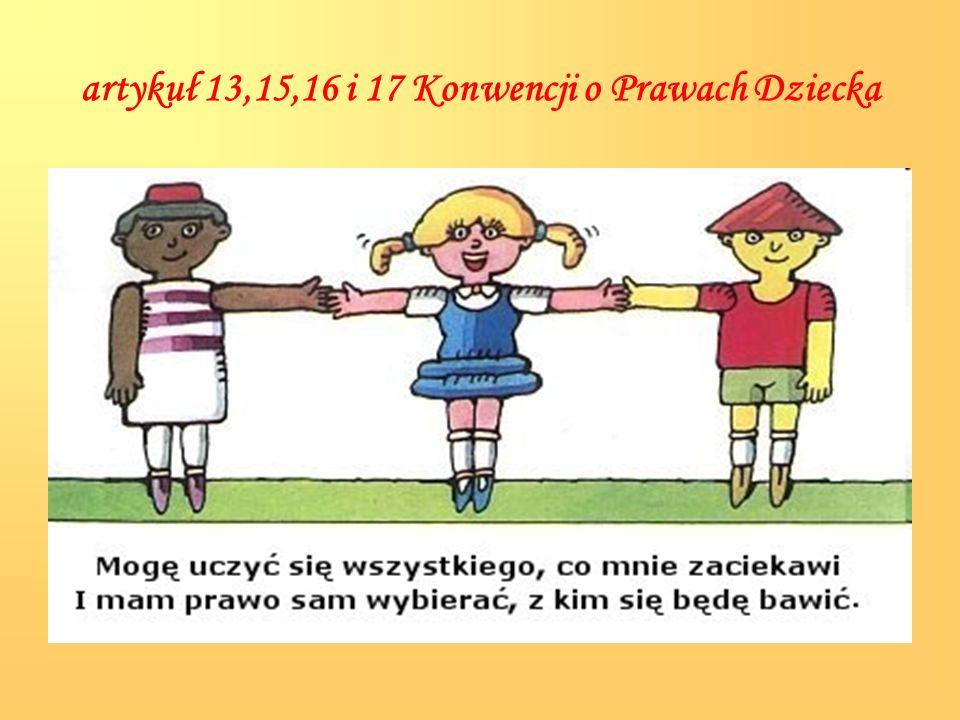 artykuł 19,28,34,36 i 37 Konwencji o Prawach Dziecka