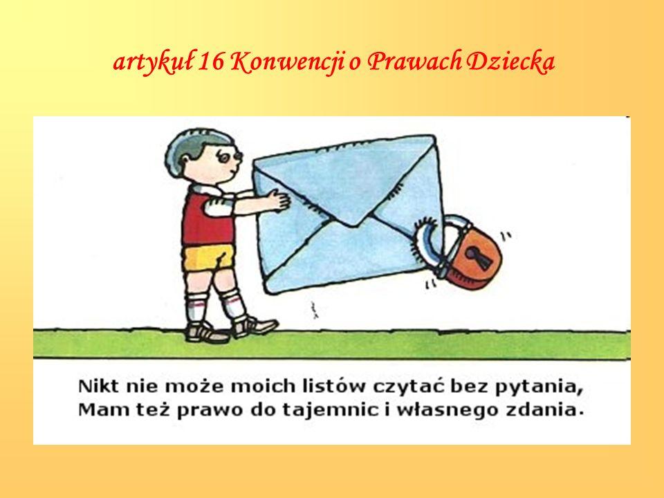 artykuł 16 Konwencji o Prawach Dziecka