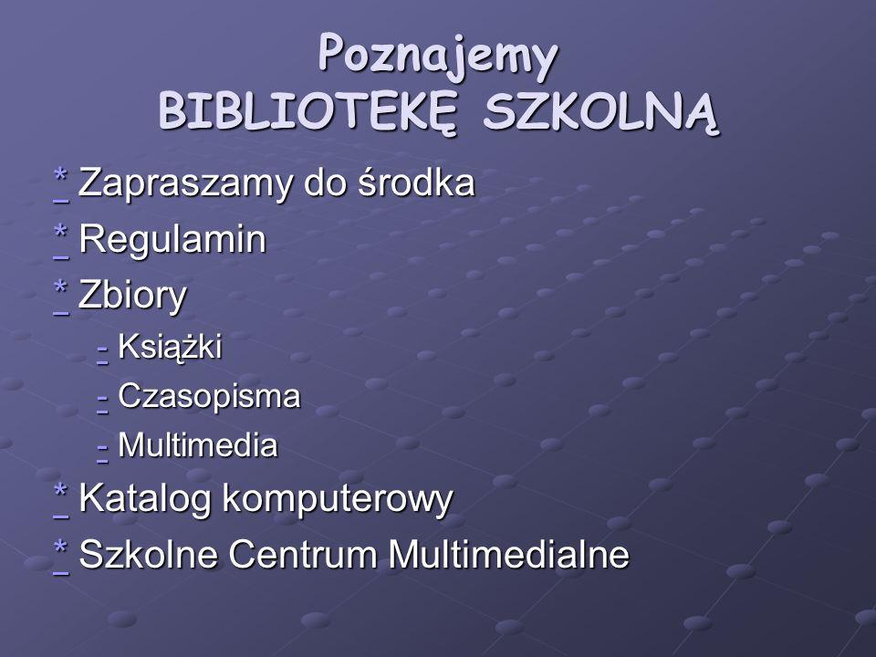 Chcesz skorzystać z INTERNETU -przyjdź BIBLIOTEKI i wpisz się do zeszytu odwiedzin Data GodzinaNr.Imię +KlasaTematPodpis oddoKomp.Nazwisko pracy 24.X.048,259,2516 Jan NowakII iA królowie PolskiNowak