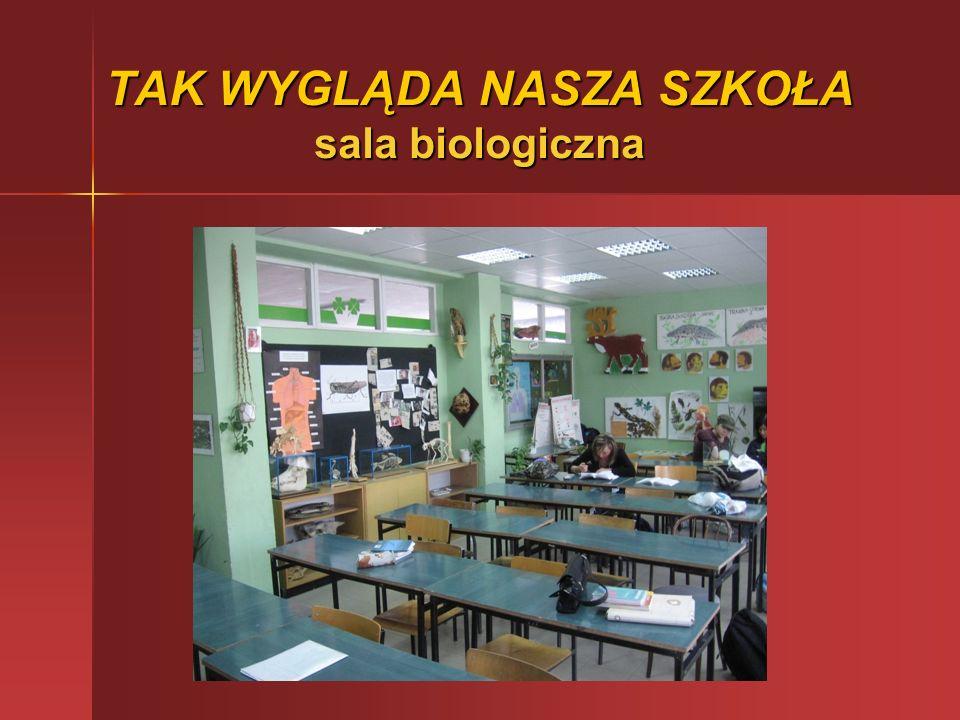 TAK WYGLĄDA NASZA SZKOŁA sala biologiczna