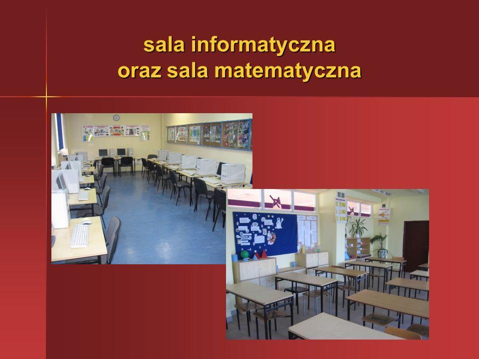 sala informatyczna oraz sala matematyczna