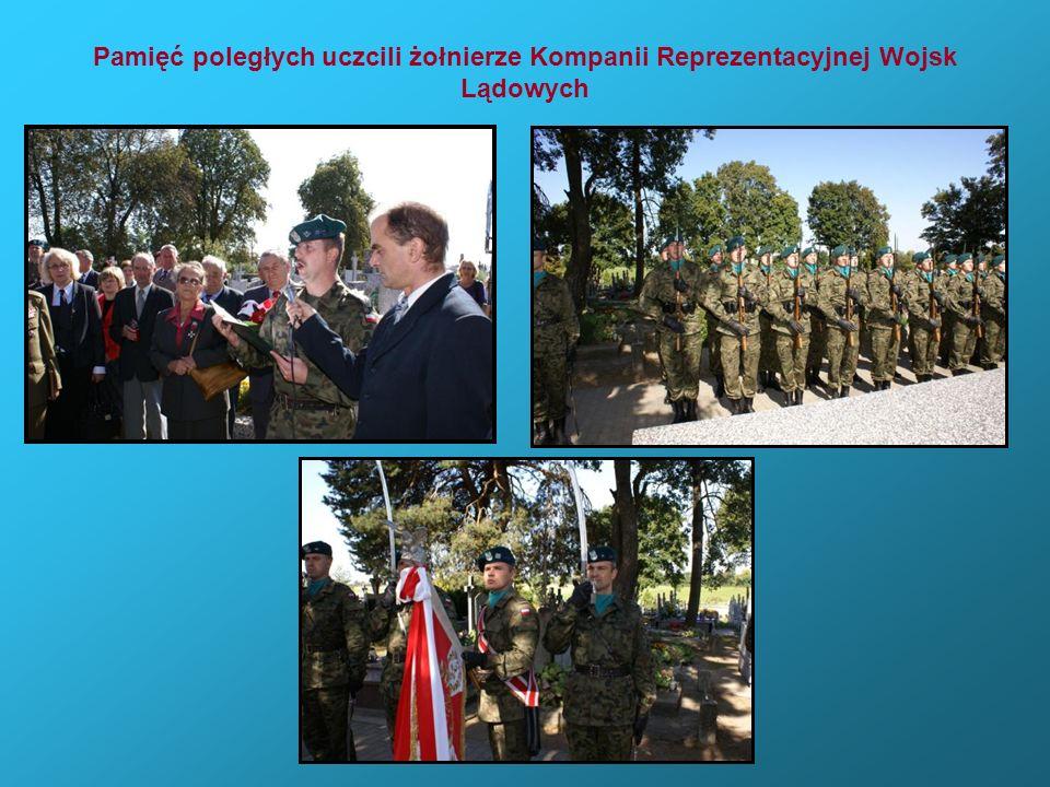 Pamięć poległych uczcili żołnierze Kompanii Reprezentacyjnej Wojsk Lądowych