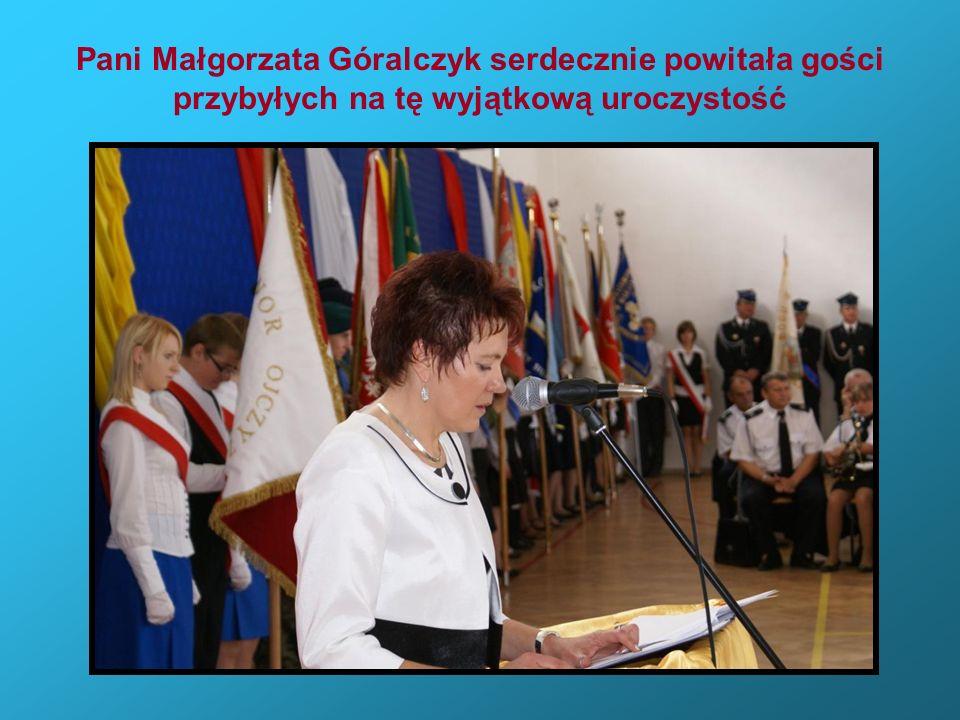 Pani Małgorzata Góralczyk serdecznie powitała gości przybyłych na tę wyjątkową uroczystość