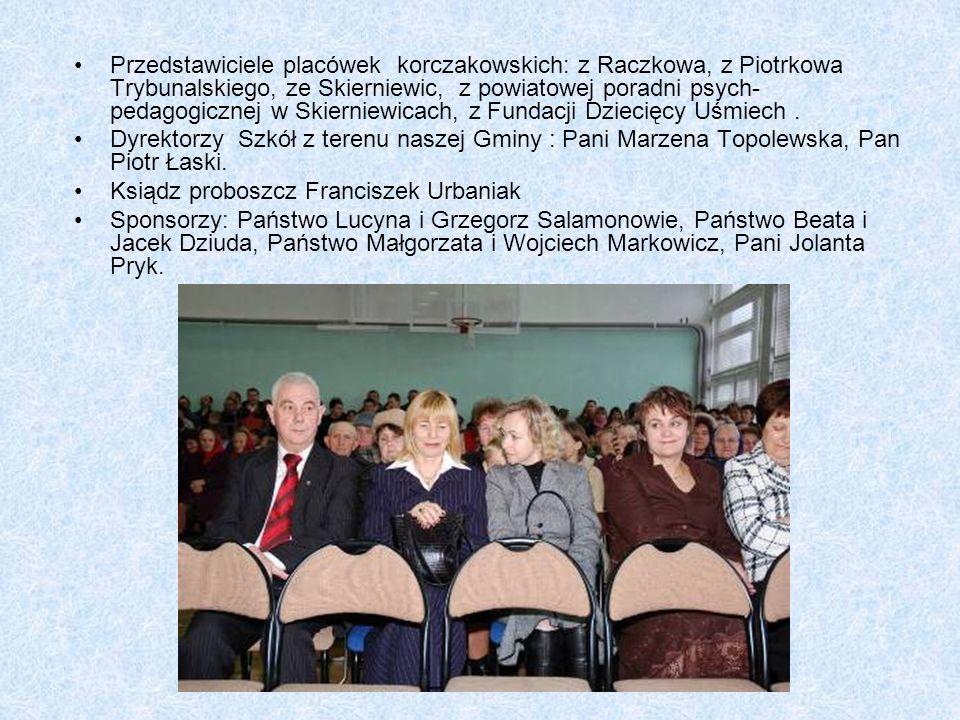 Przedstawiciele placówek korczakowskich: z Raczkowa, z Piotrkowa Trybunalskiego, ze Skierniewic, z powiatowej poradni psych- pedagogicznej w Skierniewicach, z Fundacji Dziecięcy Uśmiech.