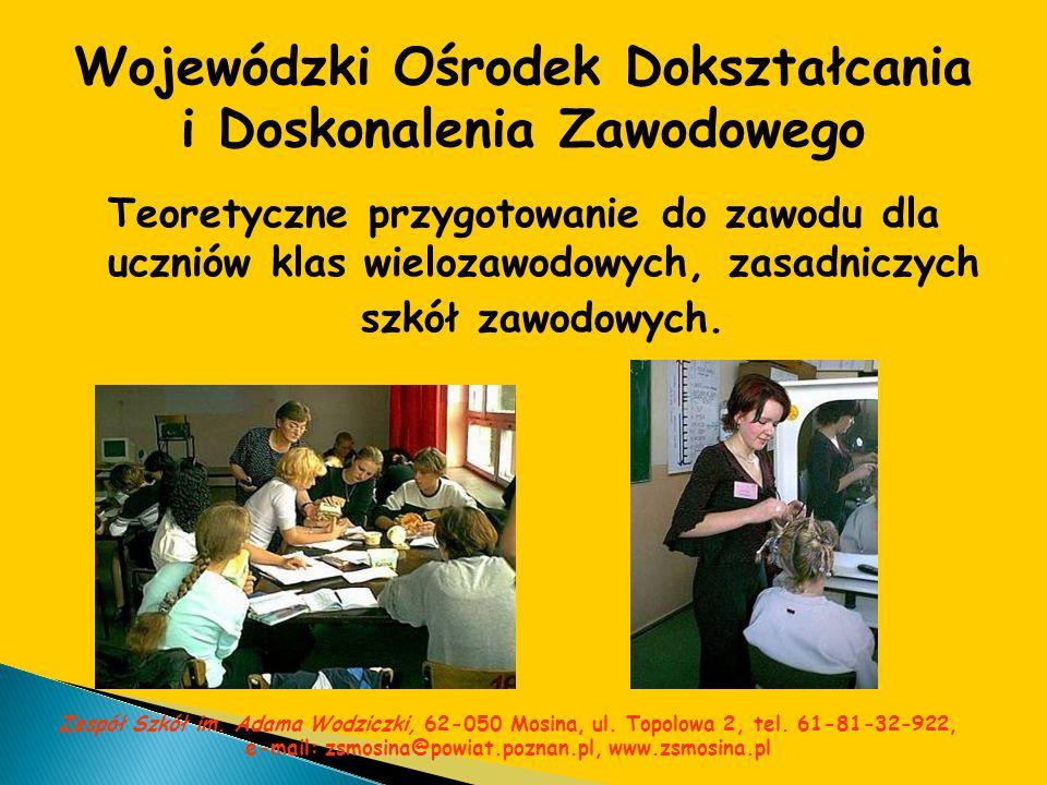 Wojewódzki Ośrodek Dokształcania i Doskonalenia Zawodowego Teoretyczne przygotowanie do zawodu dla uczniów klas wielozawodowych, zasadniczych szkół za