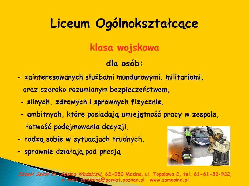 Wyposażenie Zespołu Szkół Sala gimnastyczna Zespół Szkół im.