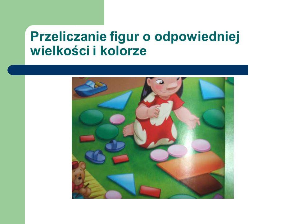 Przeliczanie figur o odpowiedniej wielkości i kolorze