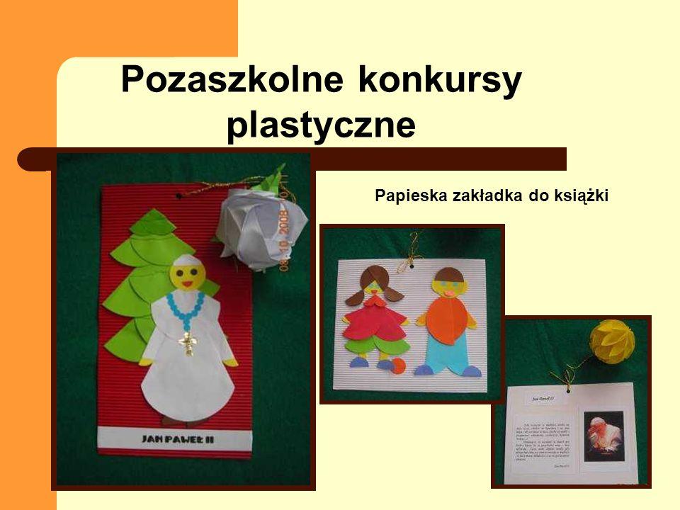 Papieska zakładka do książki Pozaszkolne konkursy plastyczne