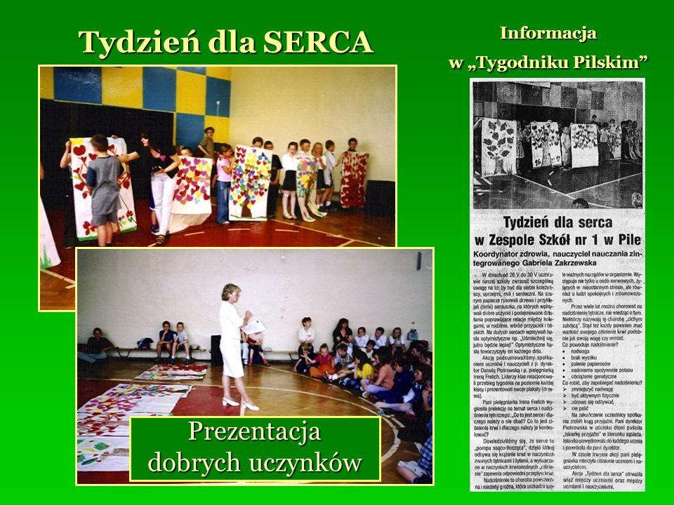 Tydzień dla SERCA Informacja w Tygodniku Pilskim Prezentacja dobrych uczynków