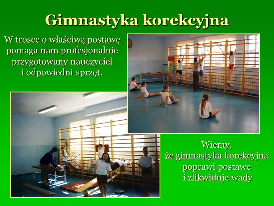 Gimnastyka korekcyjna W trosce o właściwą postawę pomaga nam profesjonalnie przygotowany nauczyciel i odpowiedni sprzęt. Wiemy, że gimnastyka korekcyj