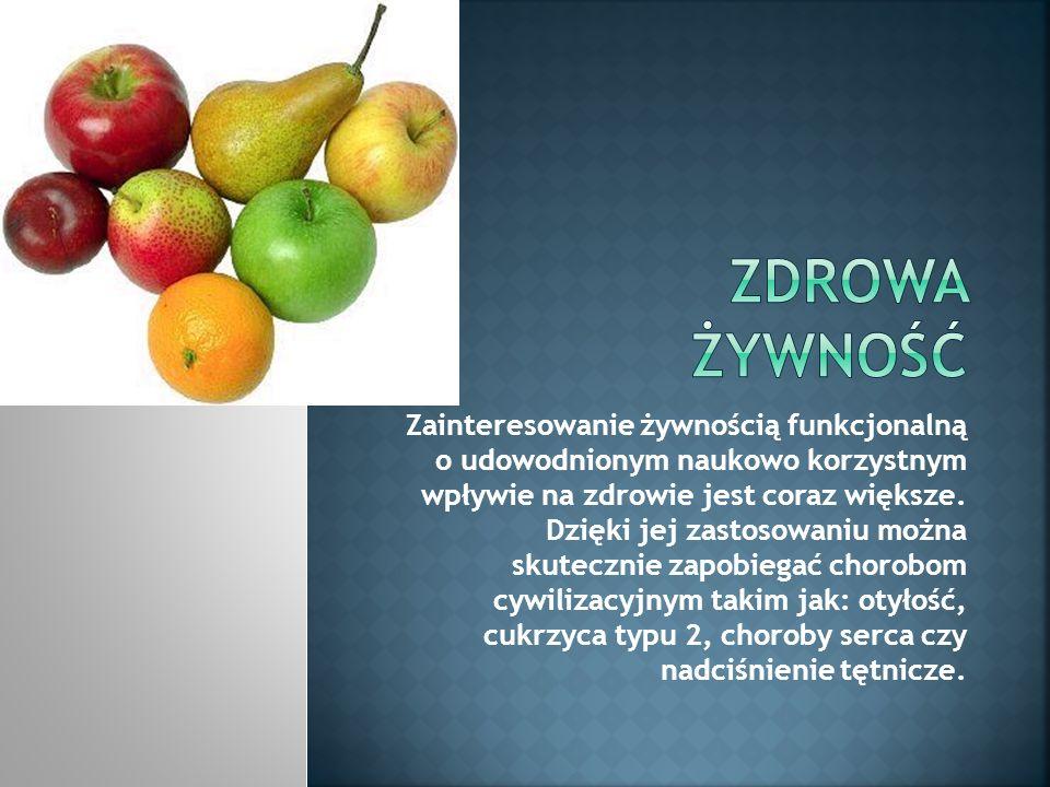 Żywność funkcjonalna występuje zarówno w postaci konwencjonalnej, jak i modyfikowanej technologicznie – w postaci tradycyjnej lub nietypowej (np.