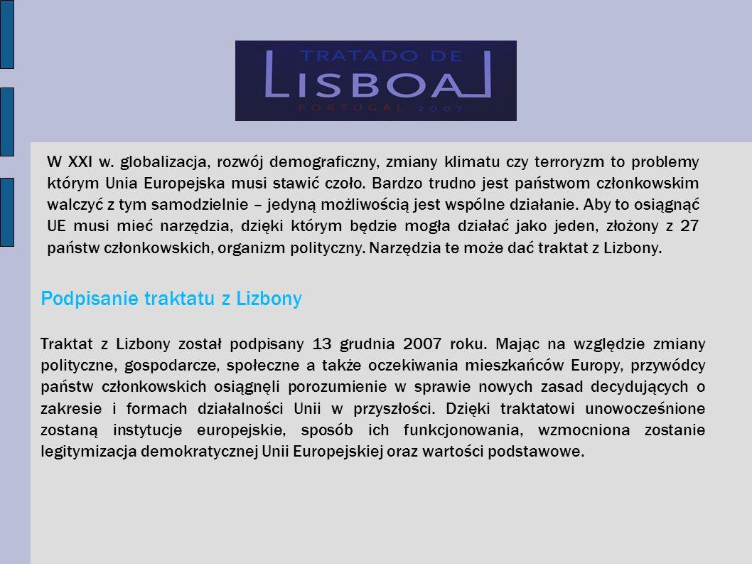 Co zmienia Traktat Lizboński.