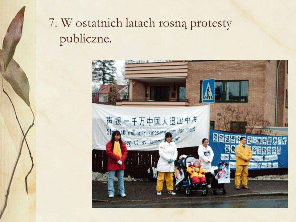 7. W ostatnich latach rosną protesty publiczne.