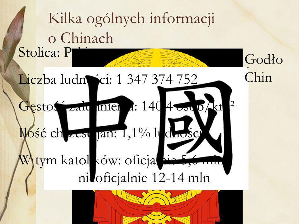 Państwo Chińskie w roku 1951 zaproponowało Kościołom wzajemną współpracę opartą na trzech autonomiach (sanzi): Samoutrzymanie nie przyjmowanie pomocy finansowej z Zachodu; np.