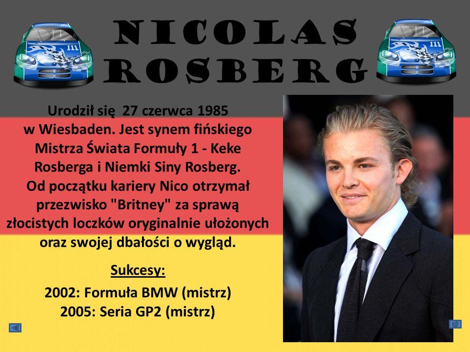 Urodził się 27 czerwca 1985 w Wiesbaden. Jest synem fińskiego Mistrza Świata Formuły 1 - Keke Rosberga i Niemki Siny Rosberg. Od początku kariery Nico
