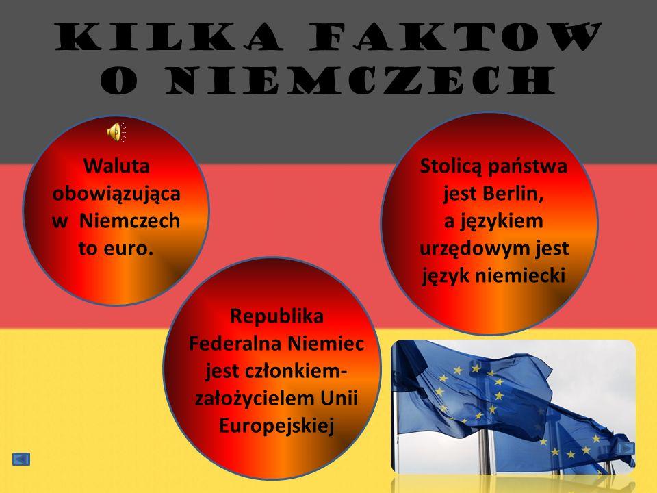 Kilka faktow o Niemczech Stolicą państwa jest Berlin, a językiem urzędowym jest język niemiecki Waluta obowiązująca w Niemczech to euro. Republika Fed