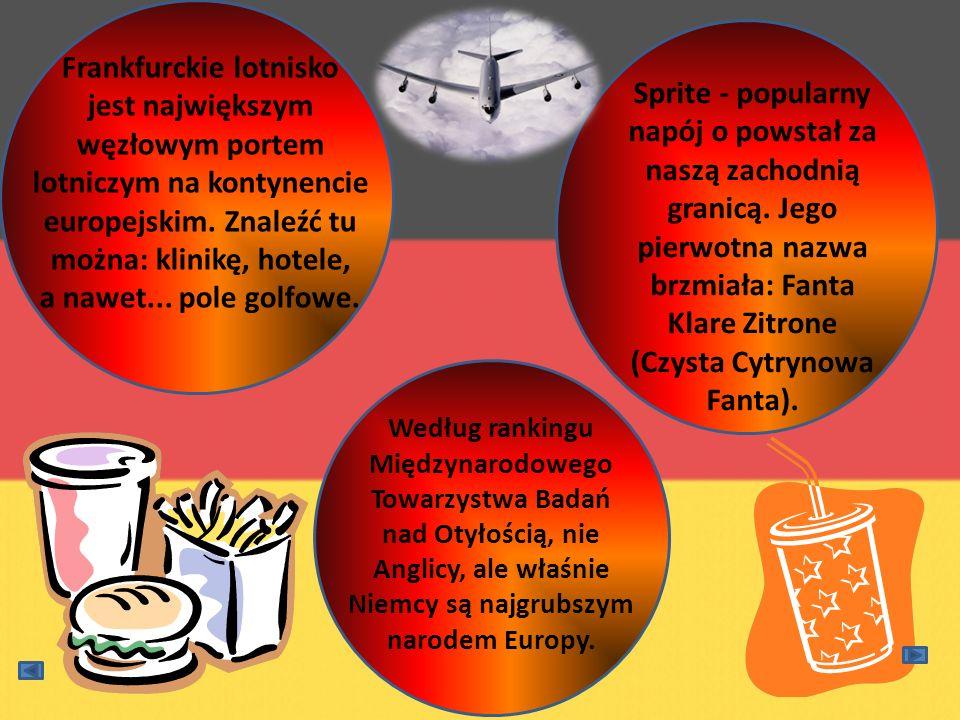 Sprite - popularny napój o powstał za naszą zachodnią granicą. Jego pierwotna nazwa brzmiała: Fanta Klare Zitrone (Czysta Cytrynowa Fanta). Według ran