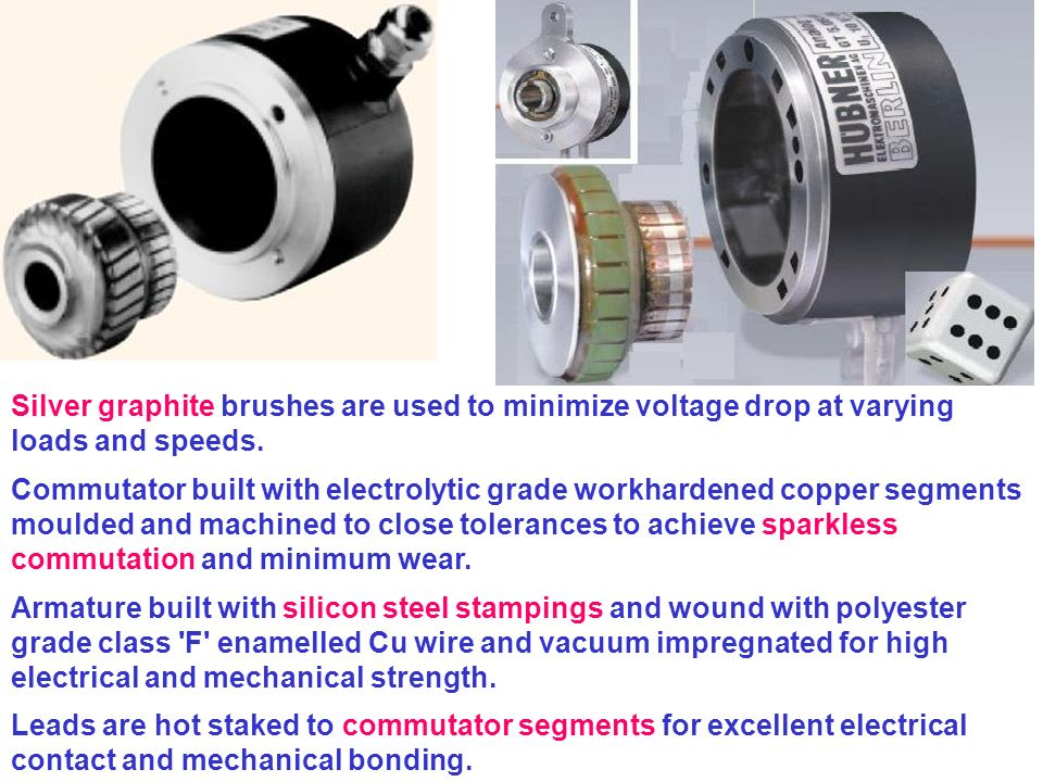 Axial airgap brushless DC tachogenerator Secure higher operations speed than classical DC generators.