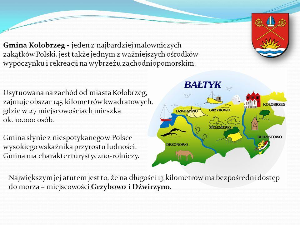 Gmina Kołobrzeg - jeden z najbardziej malowniczych zakątków Polski, jest także jednym z ważniejszych ośrodków wypoczynku i rekreacji na wybrzeżu zacho