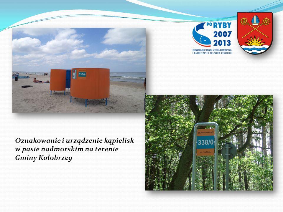 Oznakowanie i urządzenie kąpielisk w pasie nadmorskim na terenie Gminy Kołobrzeg