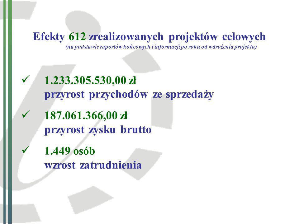 Przykłady projektów celowych zakończonych i rozliczonych w latach 2001-2009
