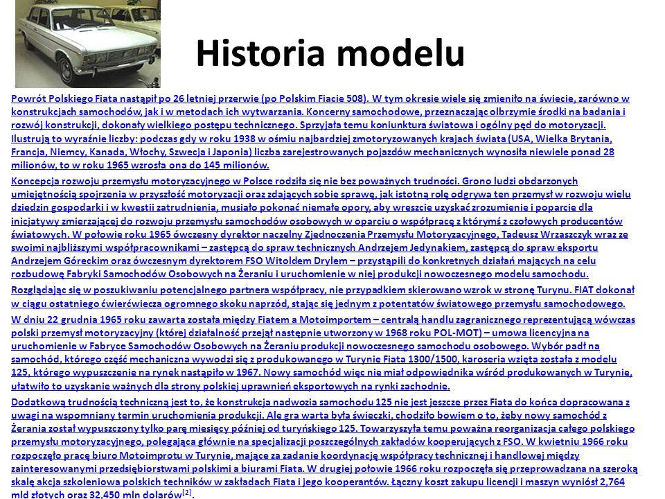 Historia modelu Powrót Polskiego Fiata nastąpił po 26 letniej przerwie (po Polskim Fiacie 508).
