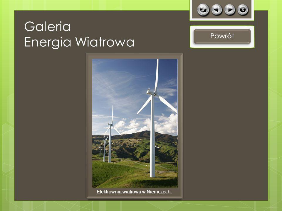 Powrót Elektrownia wiatrowa w Niemczech. Galeria Energia Wiatrowa