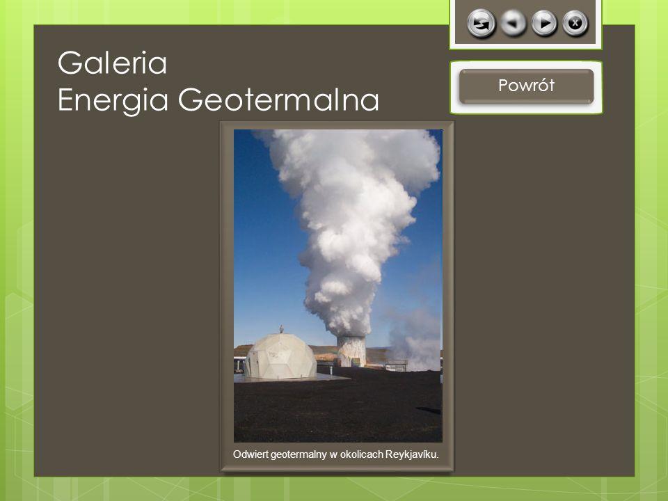 Galeria Energia Geotermalna Powrót Odwiert geotermalny w okolicach Reykjavíku.