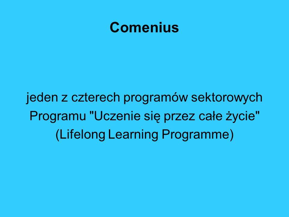 PROGRAM Uczenie się przez całe życie Comenius dla szkółComenius Erasmus dla szkół wyższychErasmus Leonardo da Vinci do kształcenia i szkolenia zawodowegoLeonardo da Vinci Grundtvig dla edukacji dorosłychGrundtvig