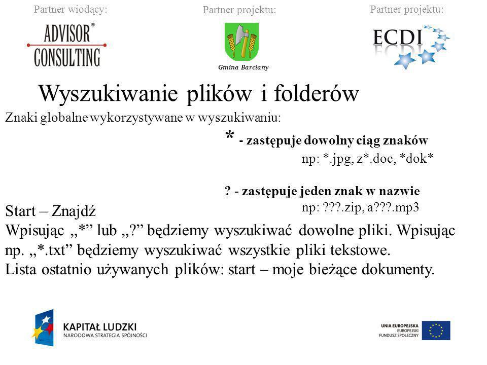 Partner wiodący:Partner projektu: Gmina Barciany Proces redukcji objętości danych przez zmianę formatu, w jakim są one zapisywane.