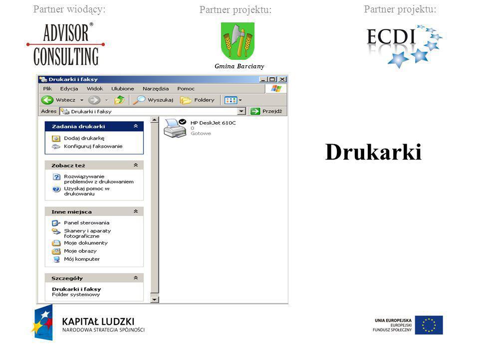Partner wiodący:Partner projektu: Gmina Barciany Drukarki