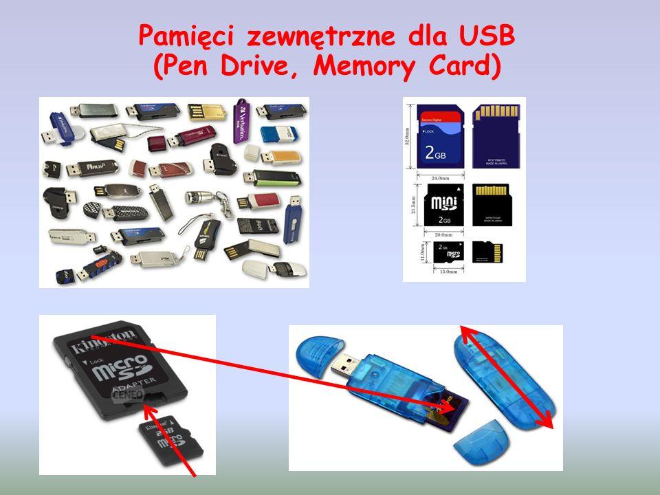 Pamięci zewnętrzne dla USB (Pen Drive, Memory Card)