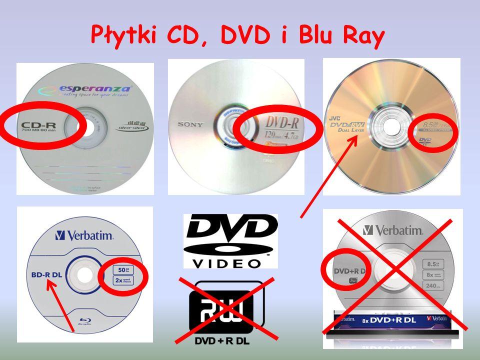 Płytki CD, DVD i Blu Ray