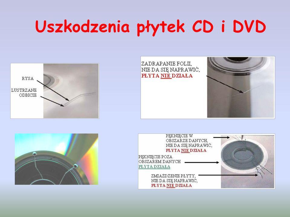 Uszkodzenia płytek CD i DVD