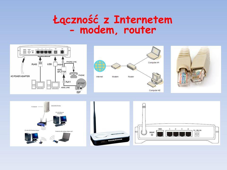 Łączność z Internetem - modem, router