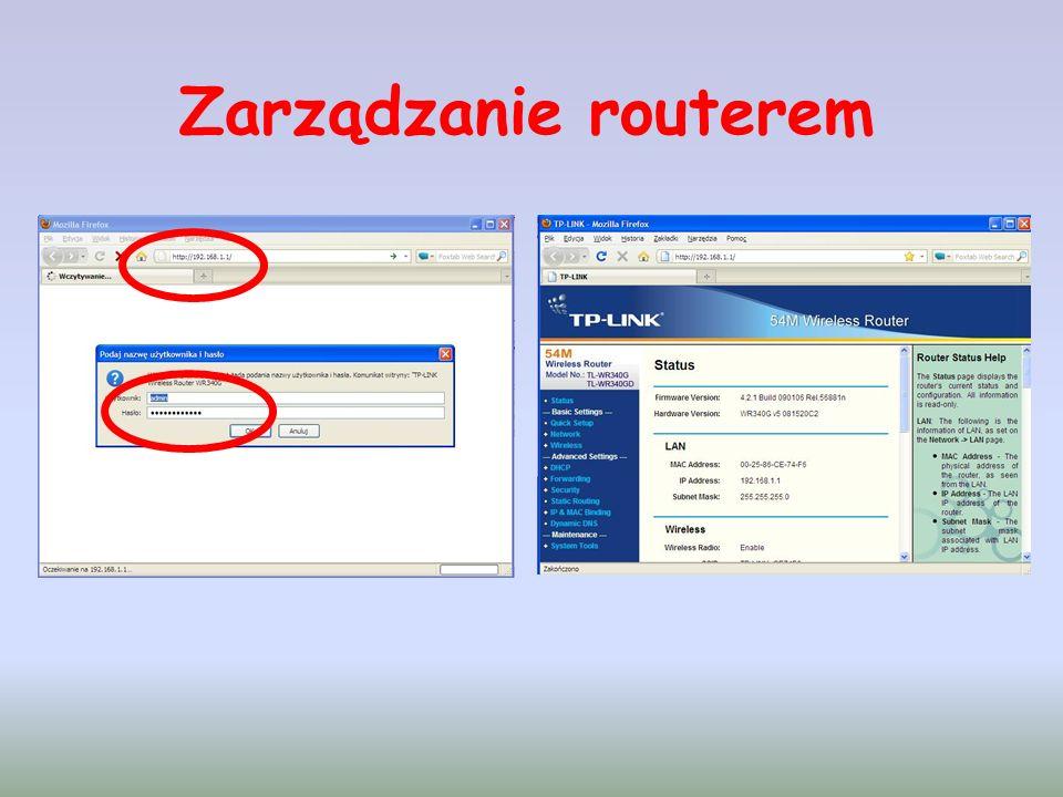 Zarządzanie routerem
