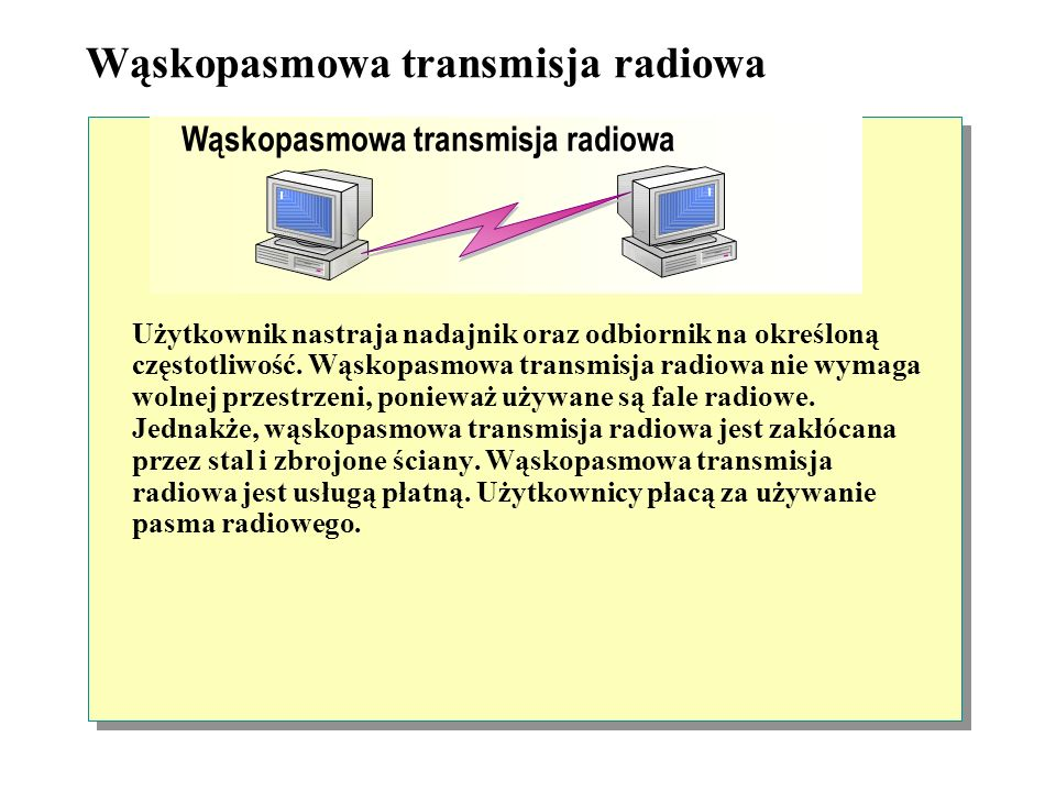 Transmisja na podczerwień Dane między urządzeniami przesyłane są za pomocą wiązki podczerwieni. Między urządzeniami nadawczymi, a urządzeniami odbiorc