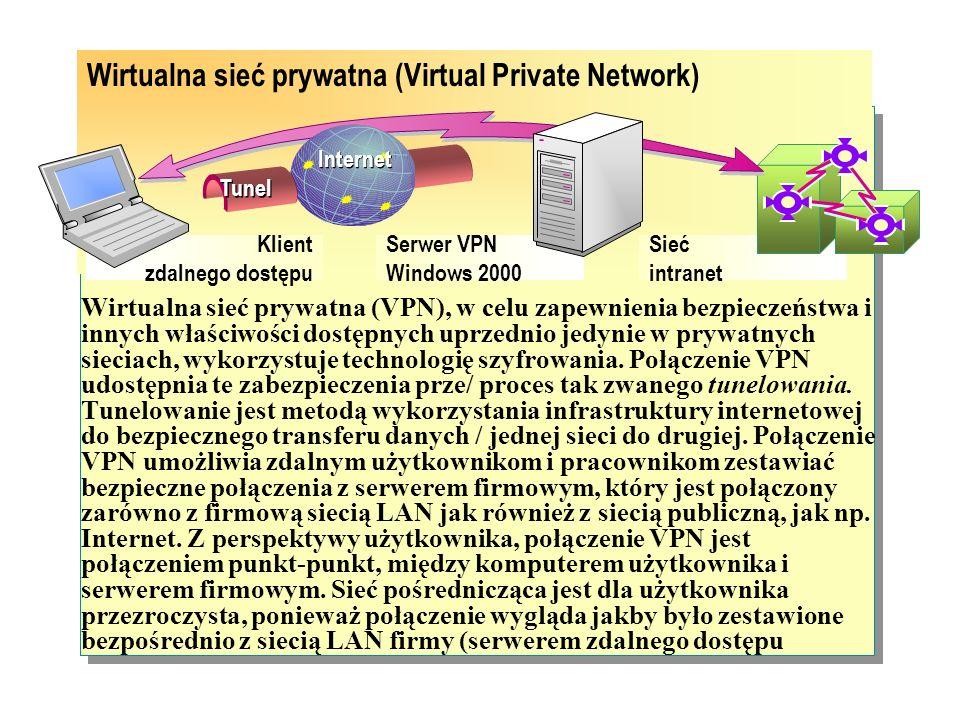 System Windows 2000 Server umożliwia zdalny dostęp dial- up dla użytkowników dzwoniących do firmowych sieci intranet. Urządzenie dial-up zainstalowane
