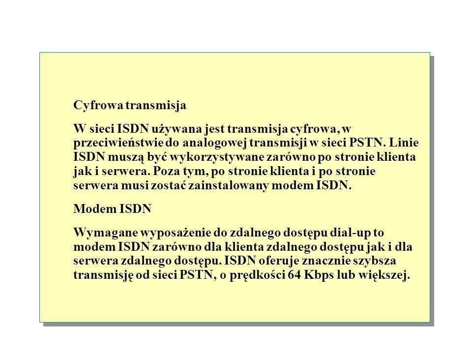 Cyfrowa sieć telefoniczna ISDN (Integrated Services Digital Network) jest międzynarodowym standardem komunikacyjnym, zaprojektowanym dla przesyłania g